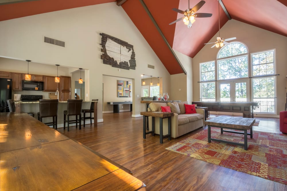 Community area with couches at Summerchase at Riverchase in Hoover, Alabama
