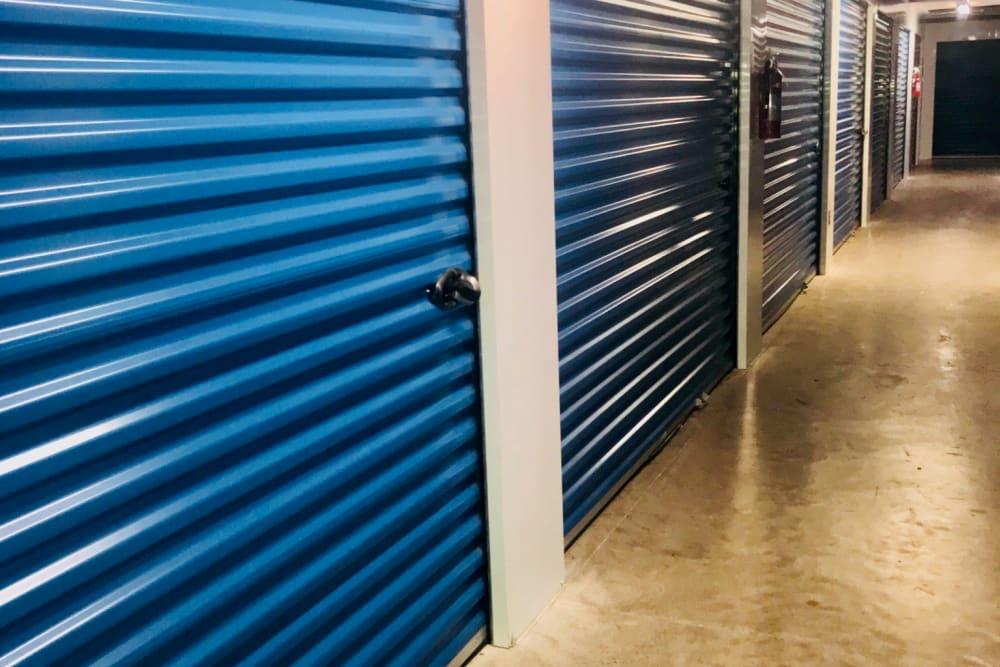 Interior storage units at Store It All Self Storage - McPherson in Laredo, Texas
