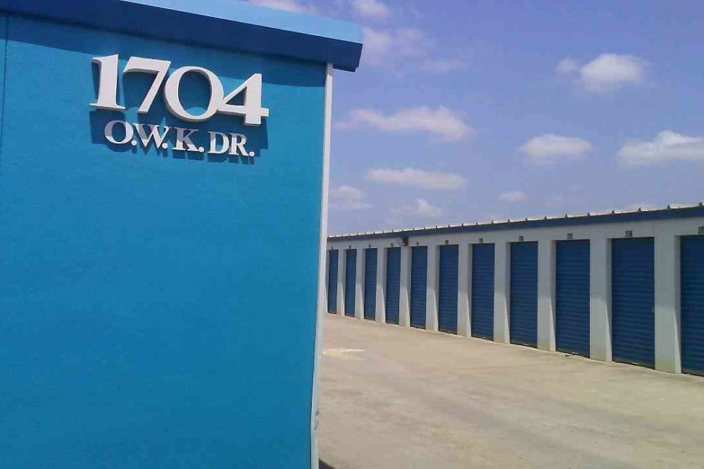 Outdoor storage units at Store It All Self Storage - Loop 20 in Laredo, Texas
