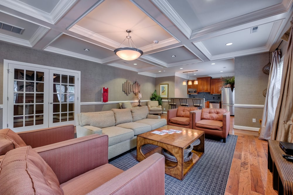 Clubhouse seating area at