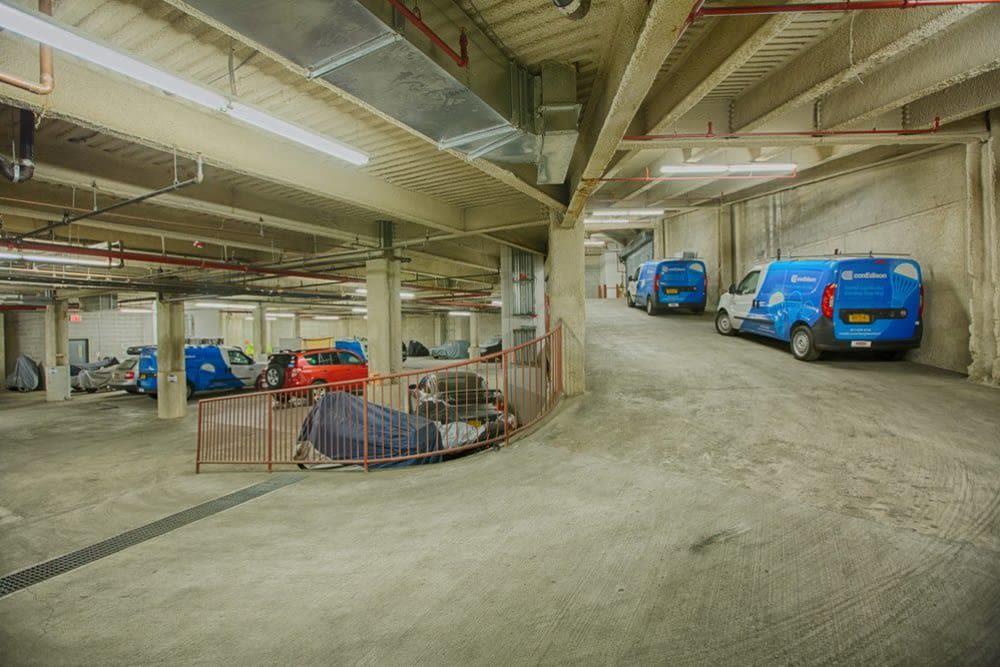 Clutter Self-Storage offers an underground parking garage in Long Island City, New York