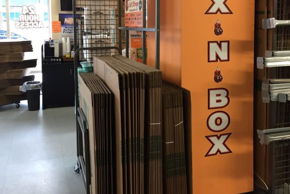 Office with packaging supplies for sale at Clutter Self-Storage in Long Island City, New York