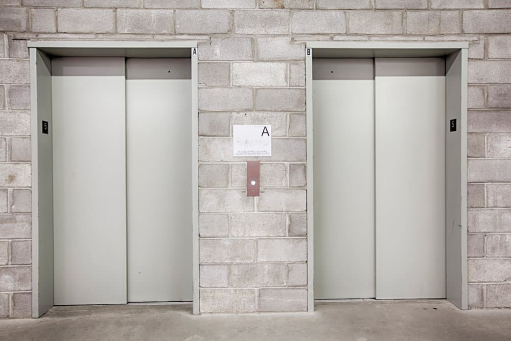 Elevators at Clutter Self-Storage in Yonkers, New York