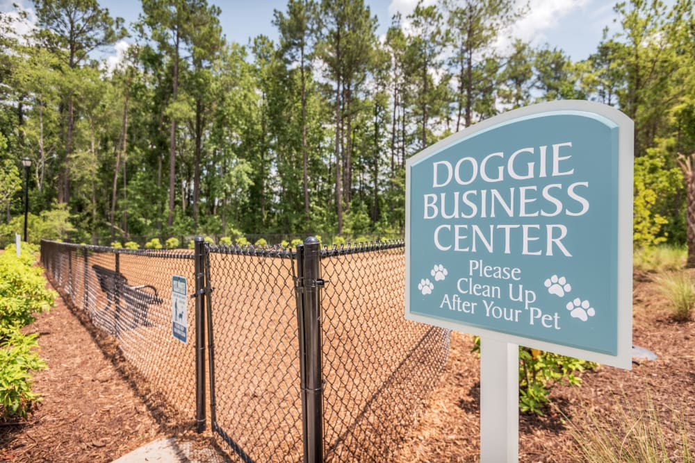 Dog park on property at The Veranda at Market Common in Myrtle Beach, South Carolina