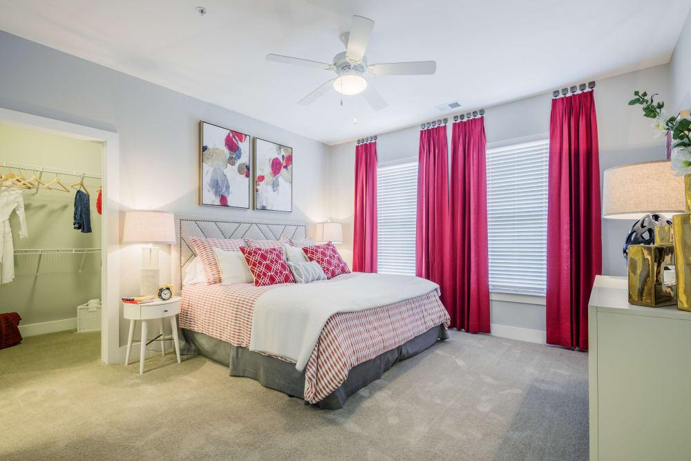 Master bedroom at The Veranda at Market Common in Myrtle Beach, South Carolina