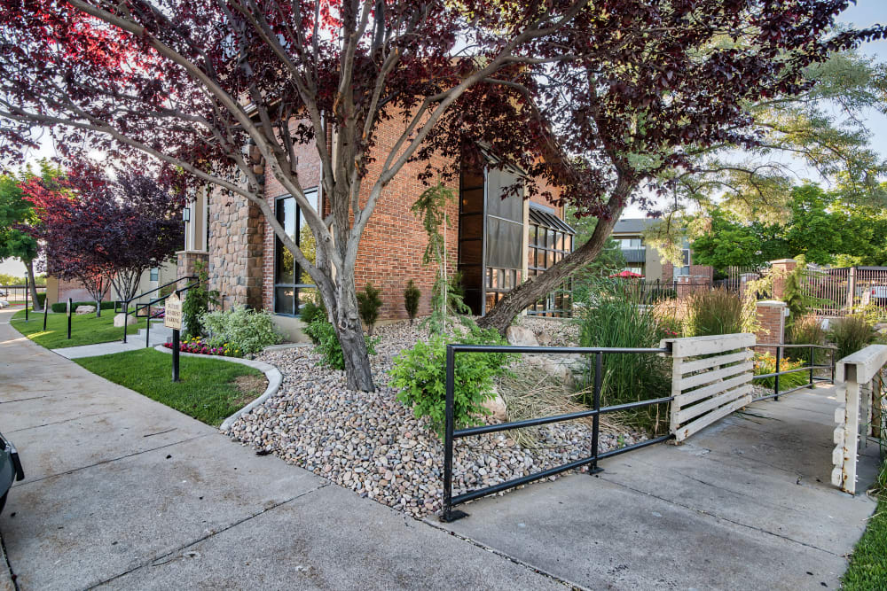 Exterior of the Leasing Office Cherry Creek Apartments in Riverdale, Utah