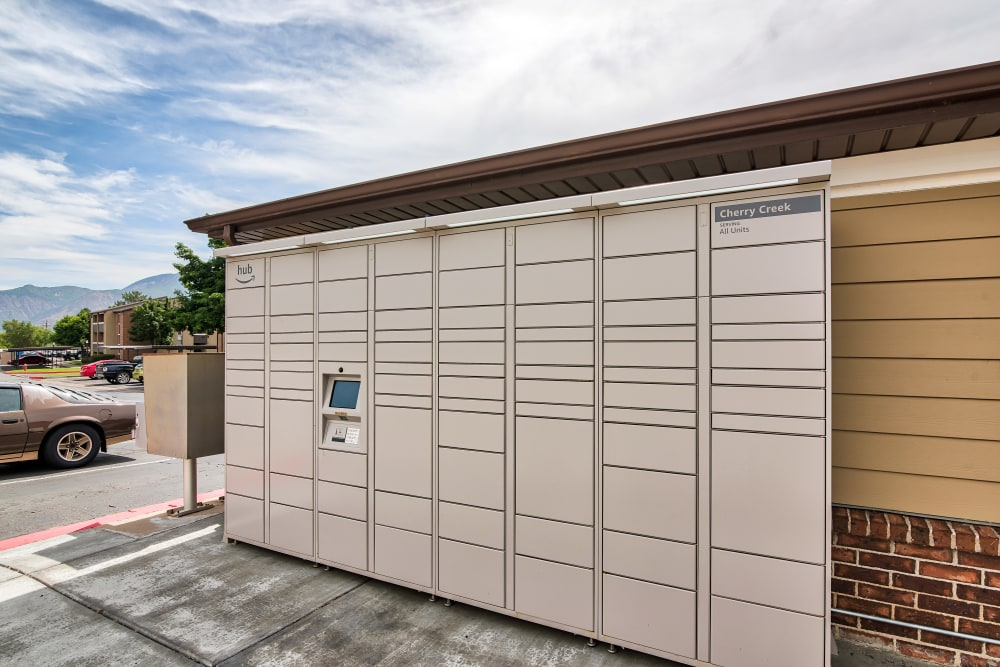 Package Lockers at Cherry Creek Apartments in Riverdale, Utah