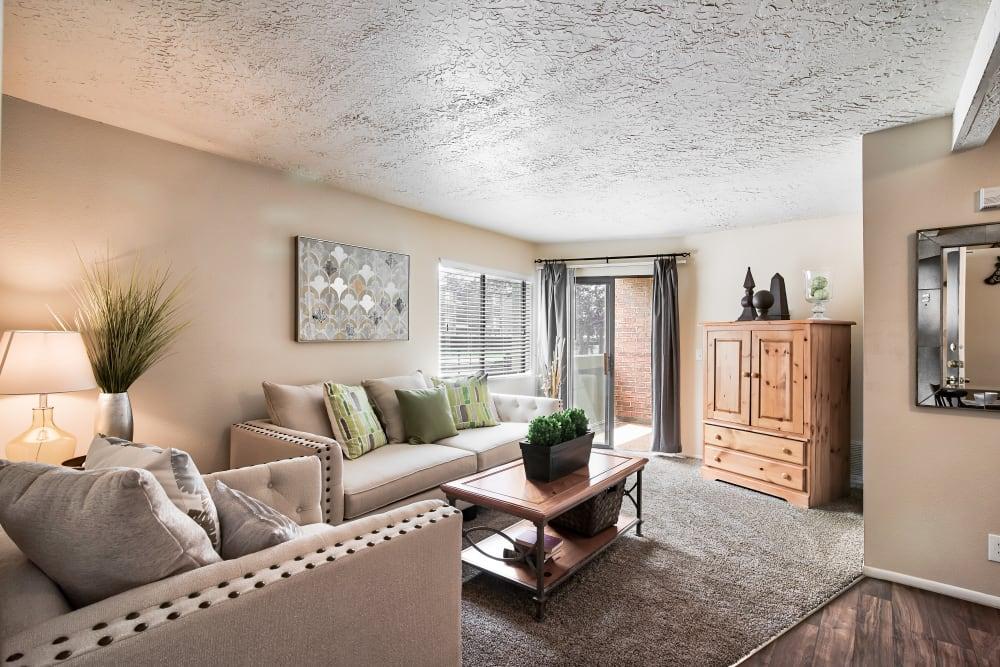 Living Room at Cherry Creek Apartments in Riverdale, Utah