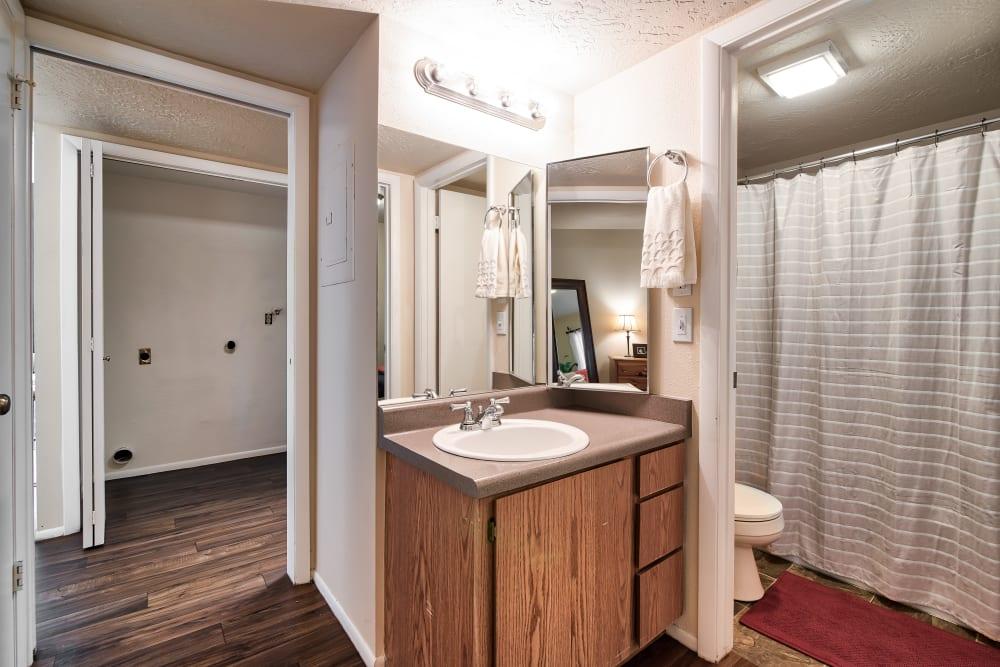 Bathroom at Cherry Creek Apartments in Riverdale, Utah