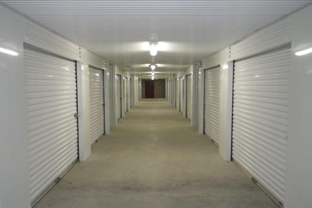 Indoor storage units at Store It All Self Storage - Westlake in Austin, Texas