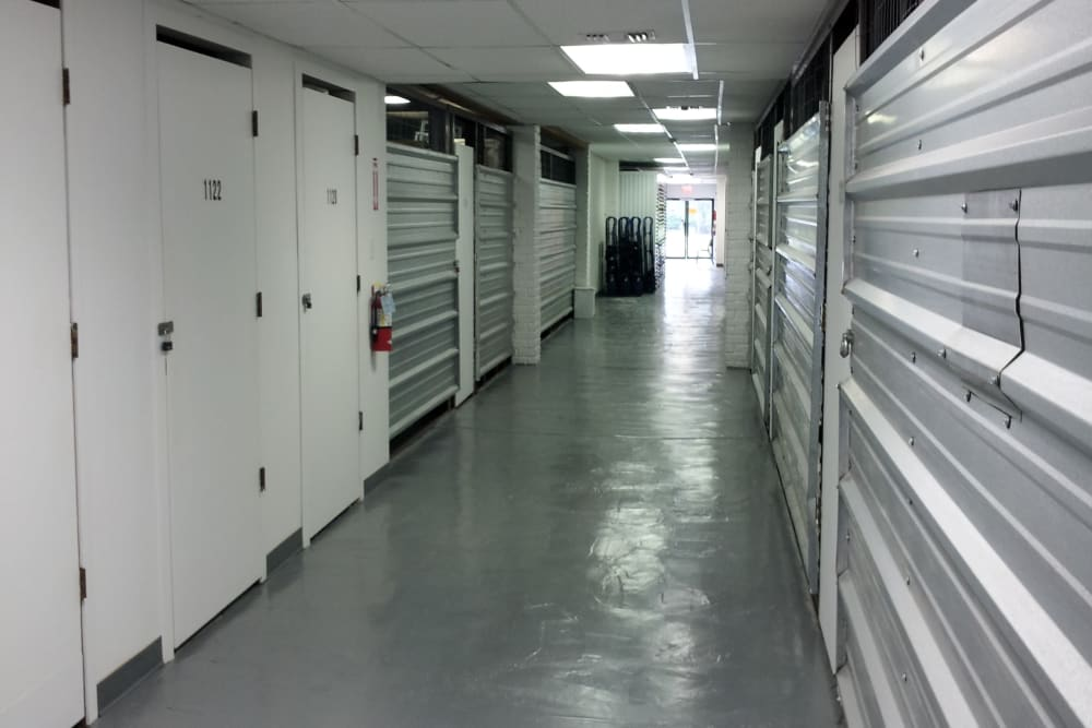 Interior storage units at Store It All Self Storage - Kingwood in Kingwood, Texas