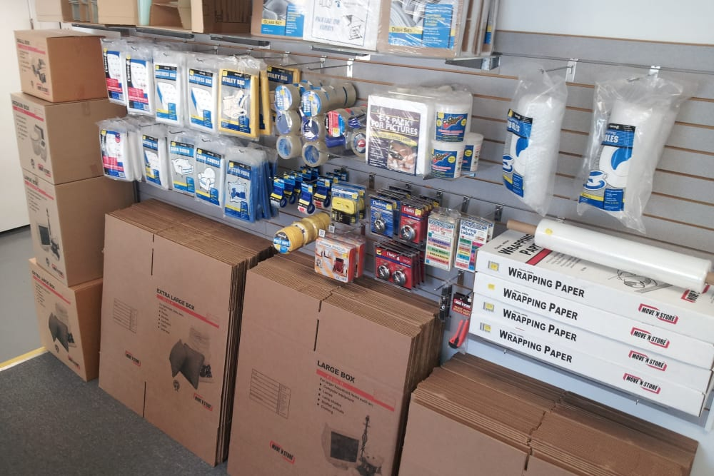 Supplies for sale at Store It All Self Storage - Kingwood in Kingwood, Texas