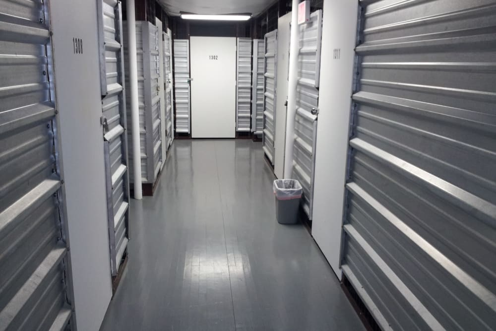 Modern looking storage units at Store It All Self Storage - Kingwood in Kingwood, Texas