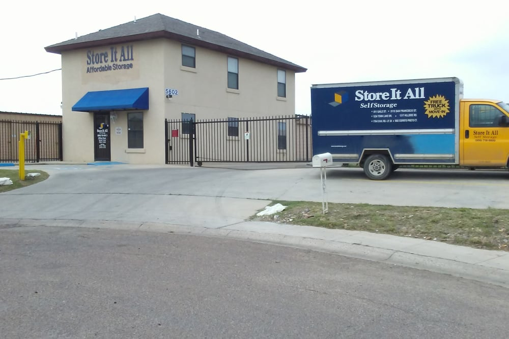 The front of the building at Store It All Self Storage - Affordable in Laredo, Texas