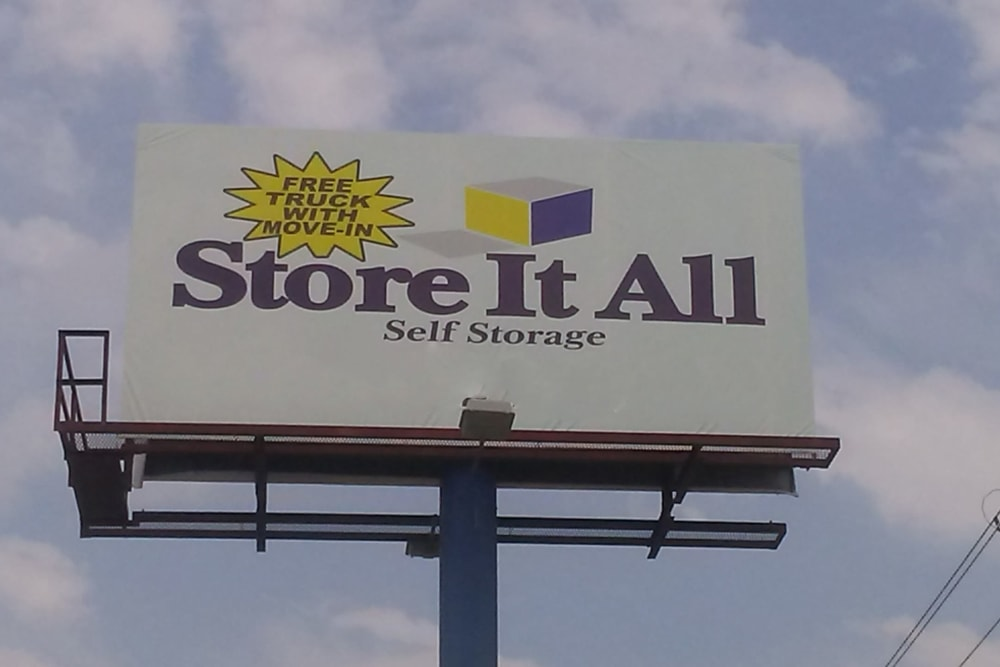 The sign at Store It All Self Storage - Zapata in Laredo, Texas