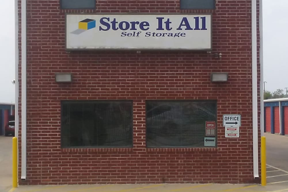 The front of the building at Store It All Self Storage - Zapata in Laredo, Texas
