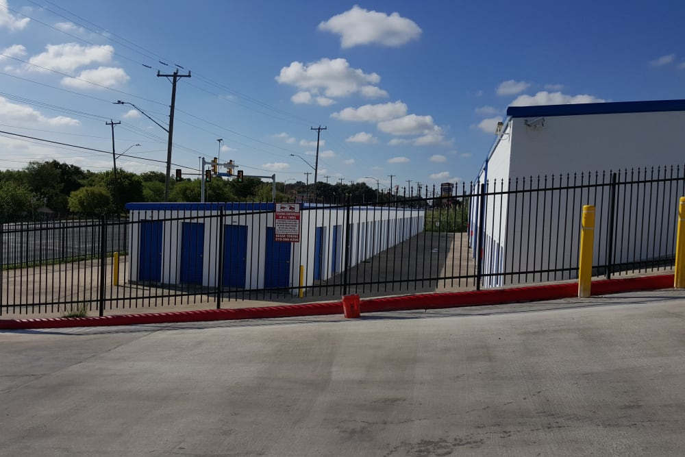 Outdoor storage units at Store It All Self Storage - McMullen in San Antonio, Texas