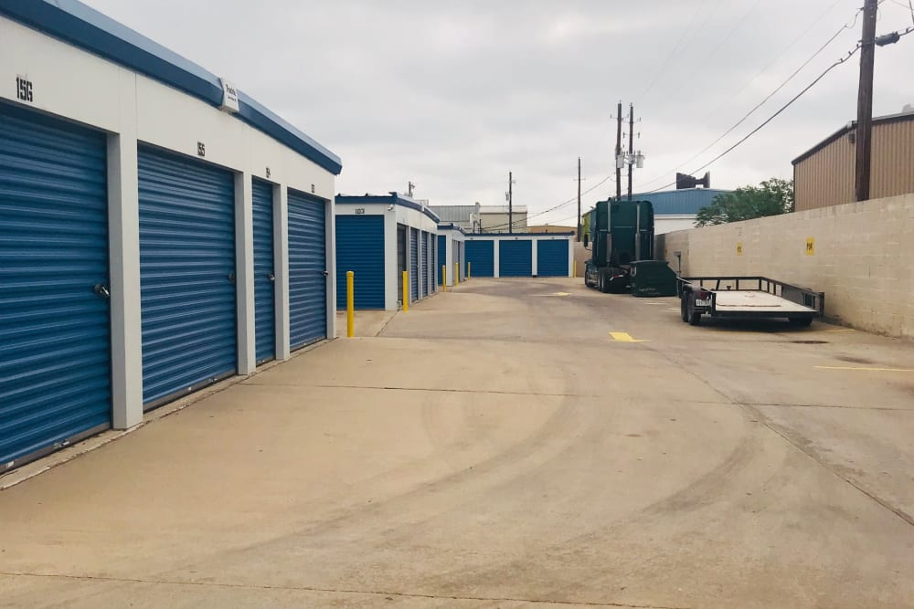 A row of storage units at Store It All Self Storage in Barnegat, New Jersey