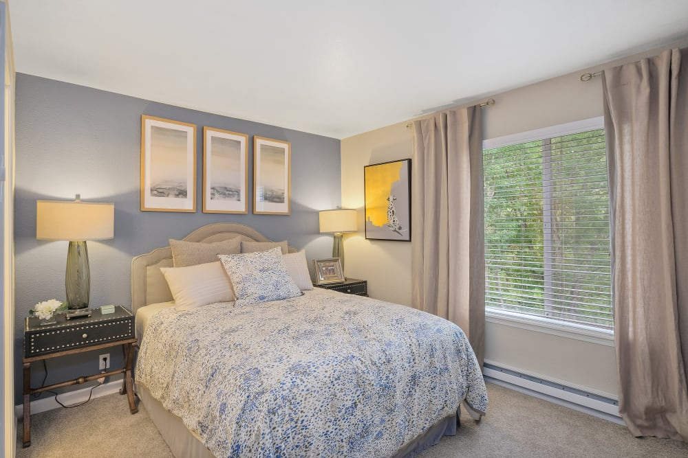 Bedroom at Waterhouse Place in Beaverton, Oregon