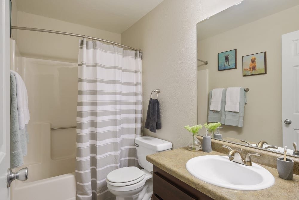 Bathroom at Waterhouse Place in Beaverton, Oregon