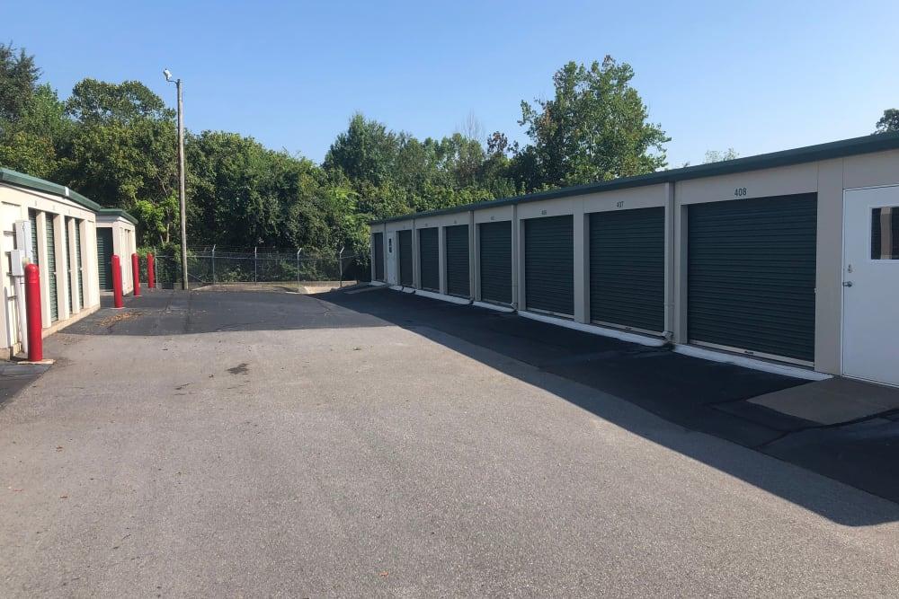 Wide driveways at AAA Self Storage at Bermuda Run in Advance, North Carolina.