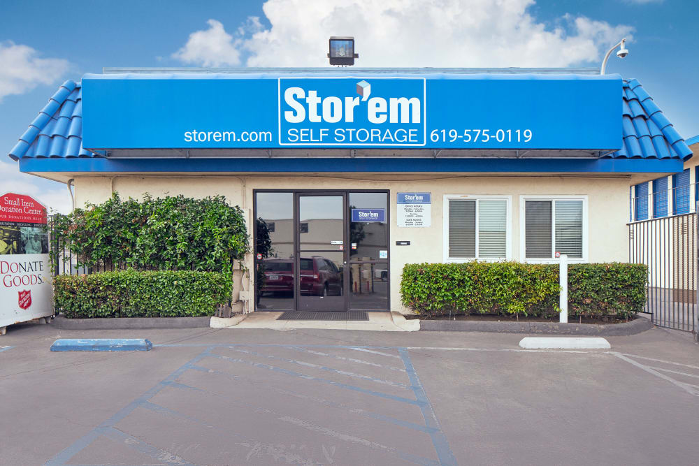 The front office at Stor'em Self Storage in Chula Vista, California