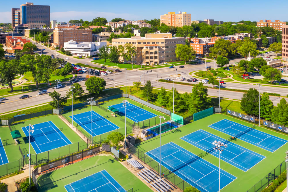 Tennis courts at Anthology of the Plaza in Kansas City, Missouri