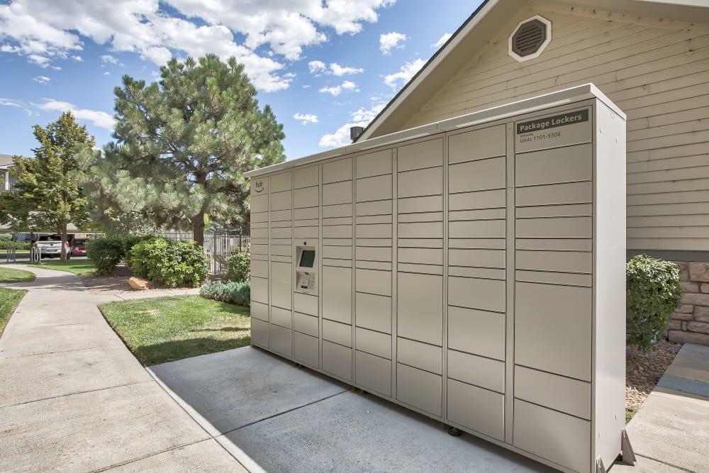 Package Lockers at Platte View Landing in Brighton, Colorado