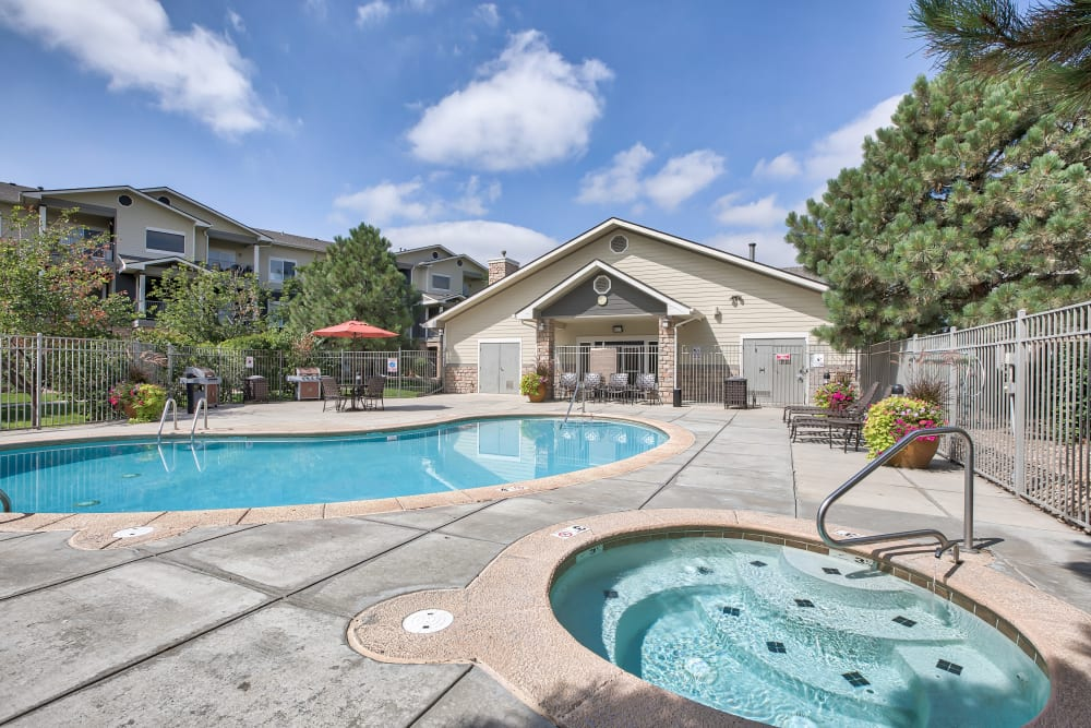 Our Apartments in Brighton, Colorado offer a Swimming Pool & Hot Tub