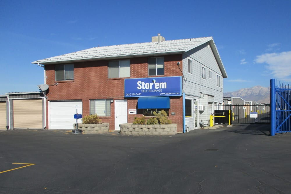 The front of the building at Stor'em Self Storage in Orem, Utah