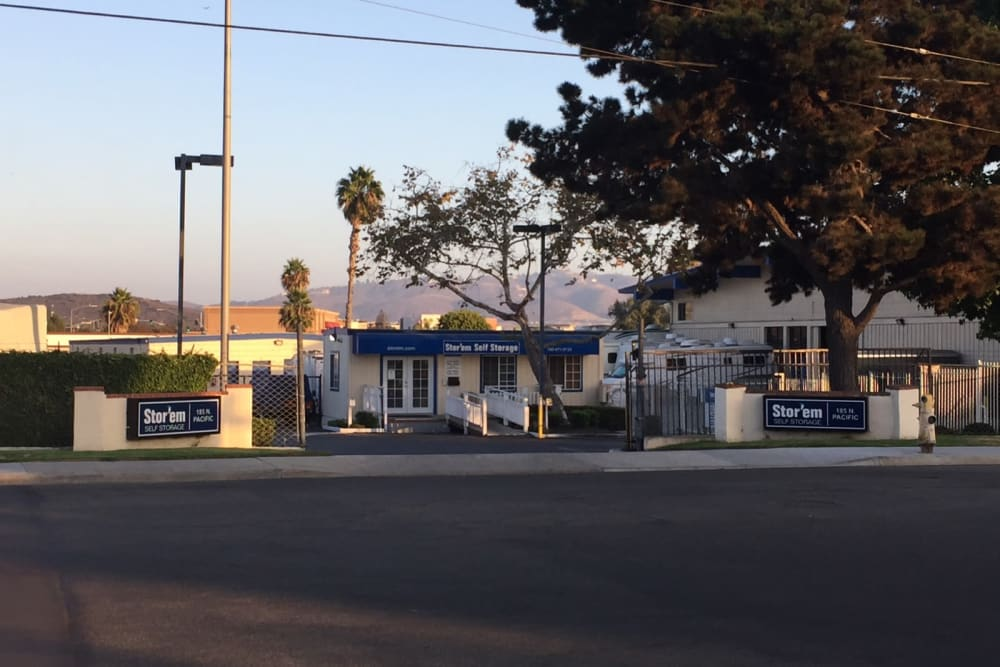 Street view of Stor'em Self Storage in San Marcos, California