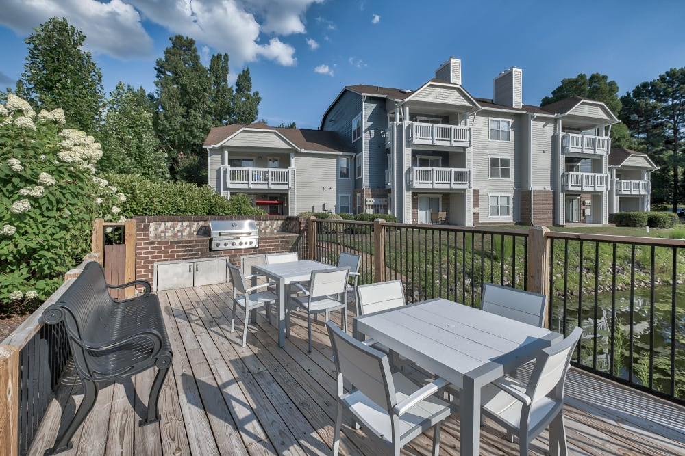 Outdoor BBQ Area at Copper Mill Apartments in Richmond, Virginia