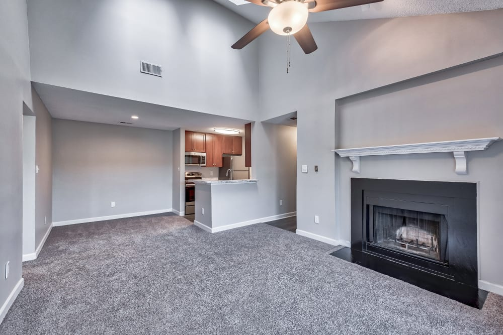 Beautiful Living Room at Copper Mill Apartments in Richmond, Virginia