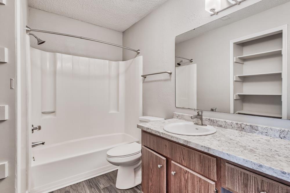 Bathroom at Copper Mill Apartments in Richmond, Virginia