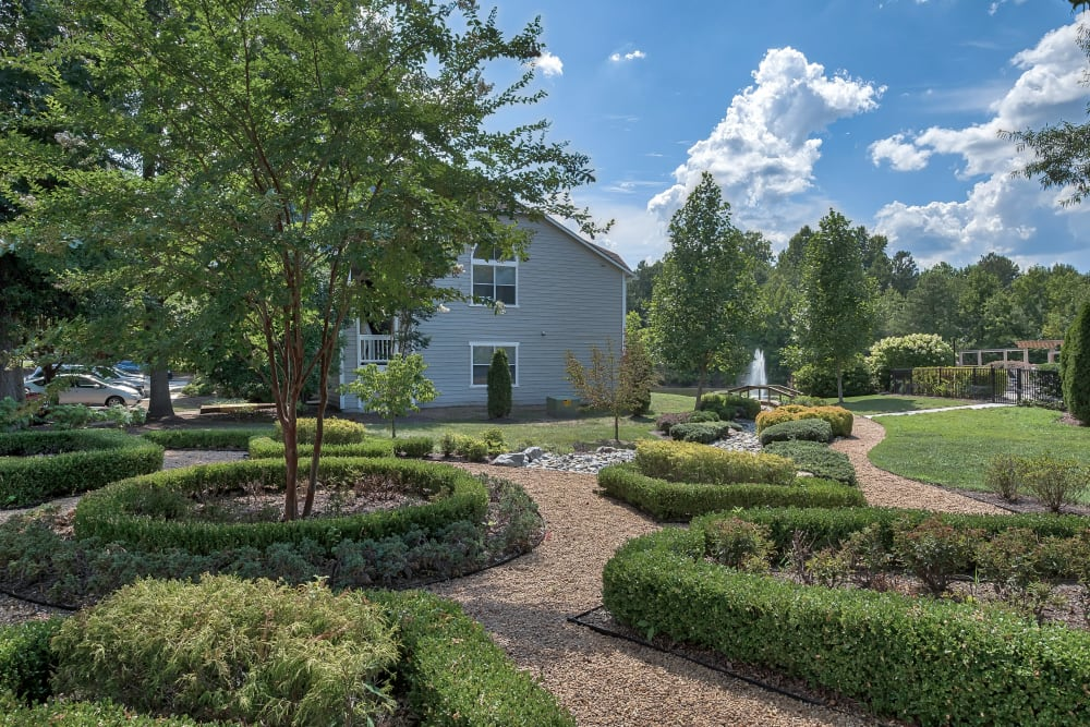 Exterior Landscaping at Copper Mill Apartments