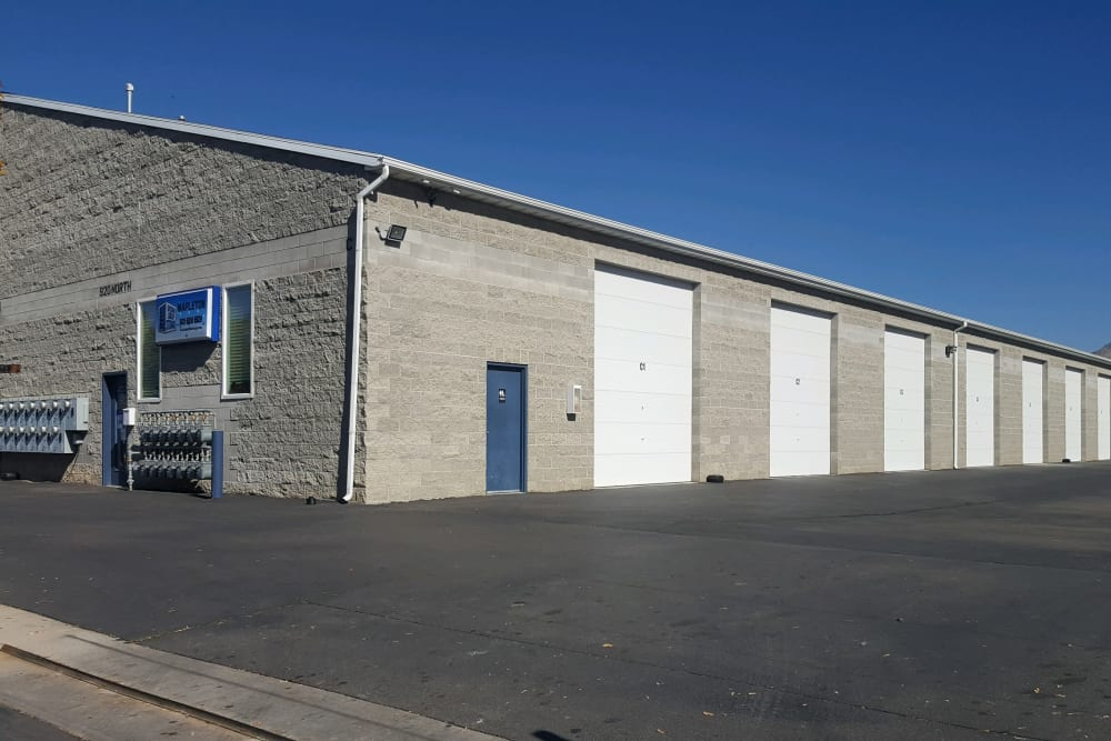 The front of the building at Stor'em Self Storage in Mapleton, Utah