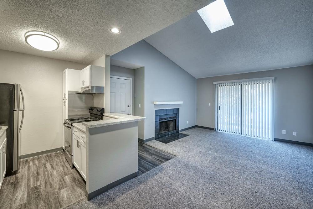 Kitchen at City Center Station Apartments in Aurora, Colorado