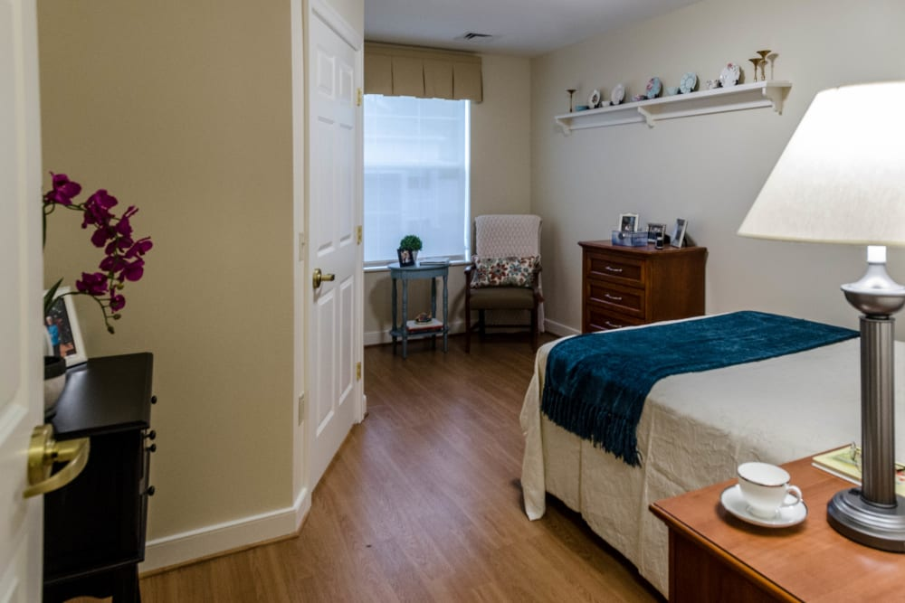 Large bedroom at Artis Senior Living of Commack in Commack, New York