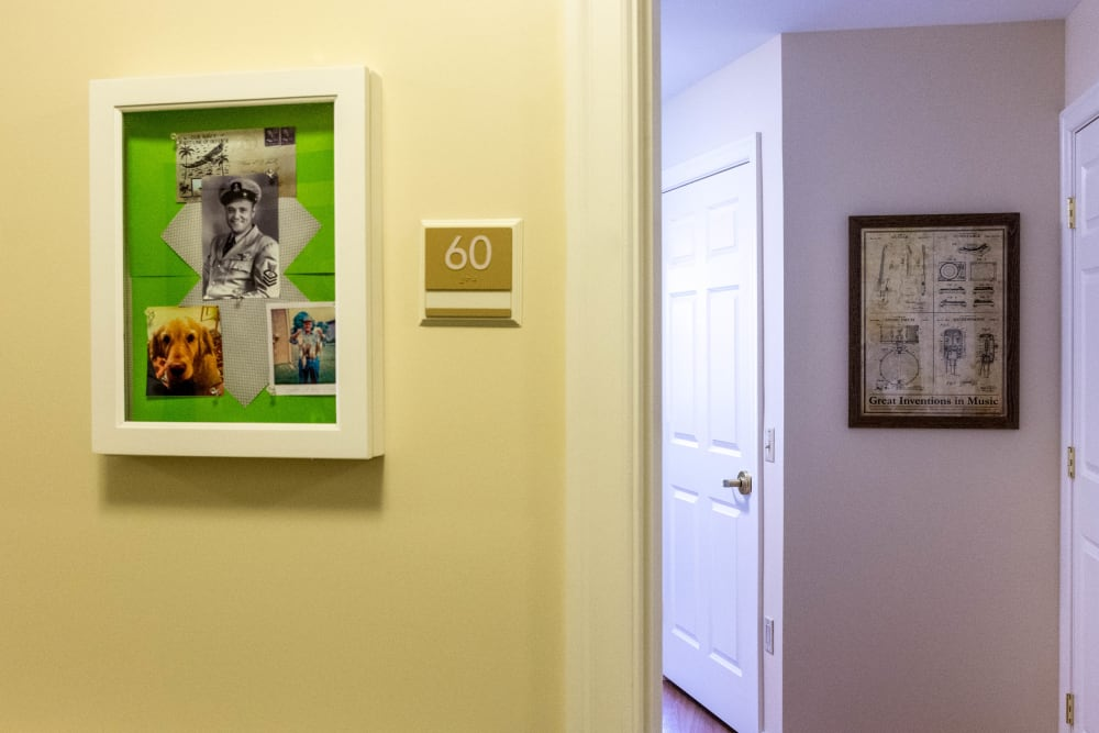 Resident room entrance at Artis Senior Living of Commack in Commack, New York
