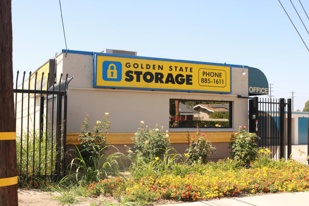 Outside of front gate at Golden State Storage - Northridge