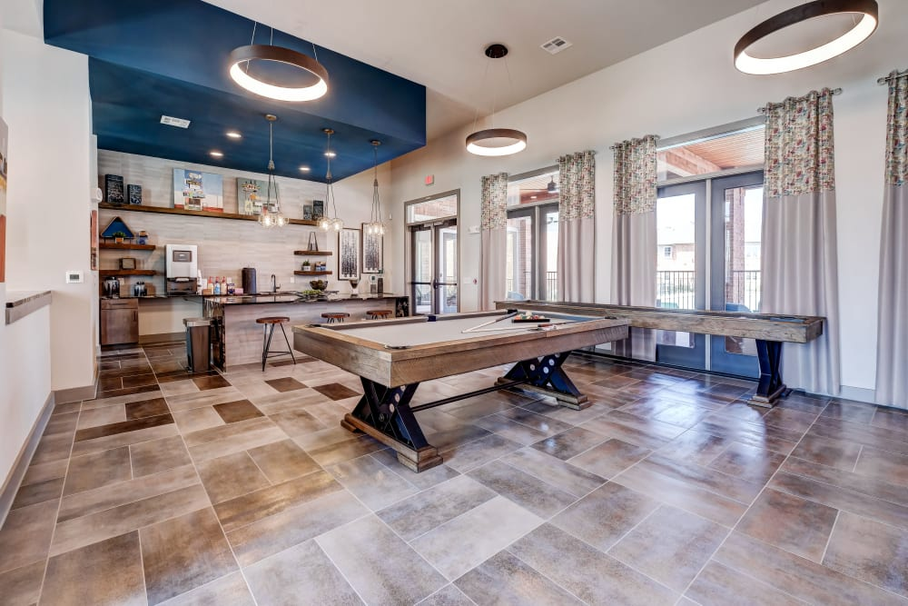 The Emerson at Forney Marketplace in Forney, TX offers a pool table
