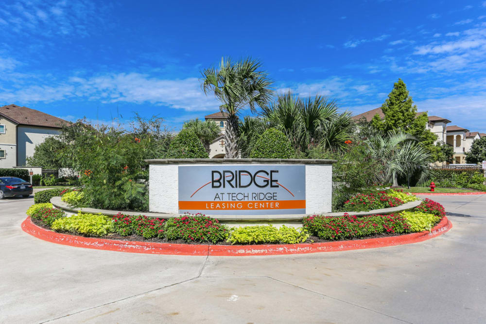Entry Sign at The Bridge at Tech Ridge in Austin, Texas