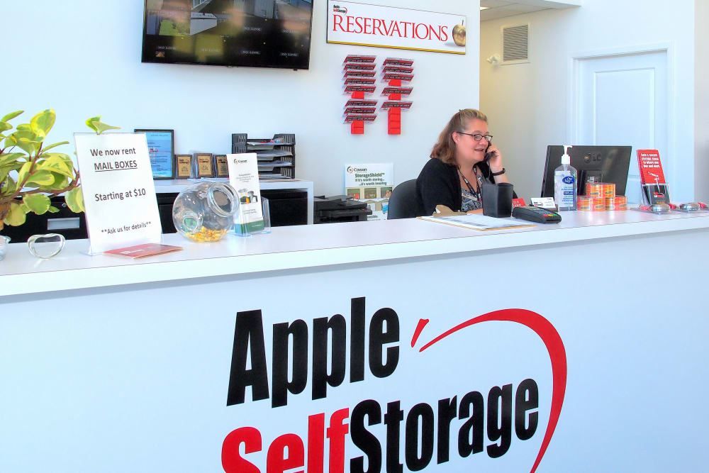 Friendly front desk at Apple Self Storage - Collingwood in Collingwood, Ontario