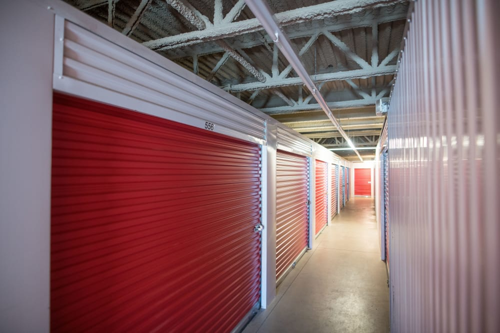 Interior units with large loading doors at Apple Self Storage - Dartmouth in Dartmouth, Nova Scotia
