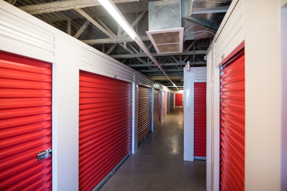 Expansive hallway at Apple Self Storage - Dartmouth in Dartmouth, Nova Scotia