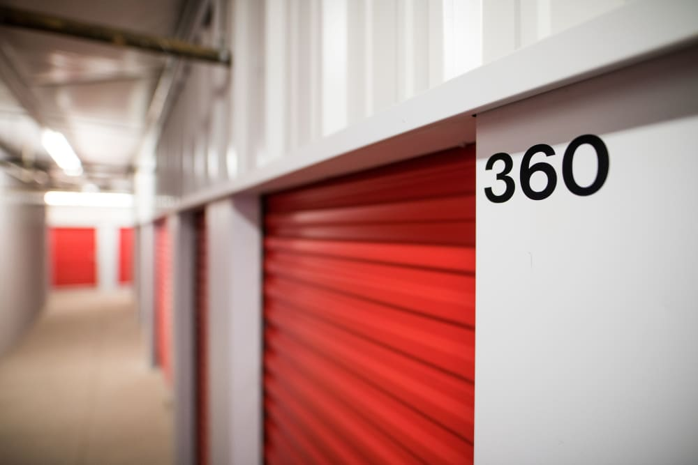 Close up of an interior unit at Apple Self Storage - Dartmouth in Dartmouth, Nova Scotia