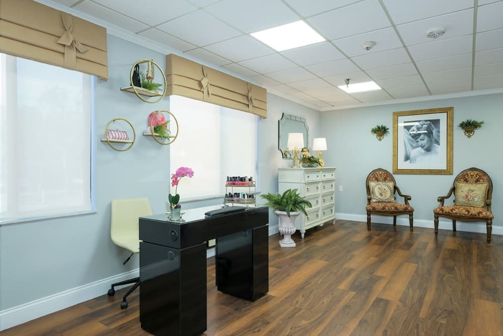 Nail salon at Grand Villa of Clearwater in Florida