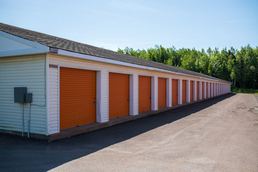 Wide driveway at Apple Self Storage - Dieppe in Dieppe, New Brunswick