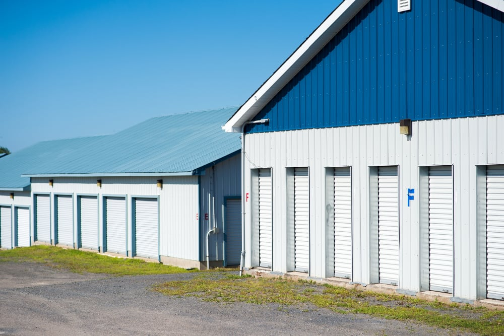 Exterior storage units available at Apple Self Storage - Fredericton North in Fredericton, New Brunswick