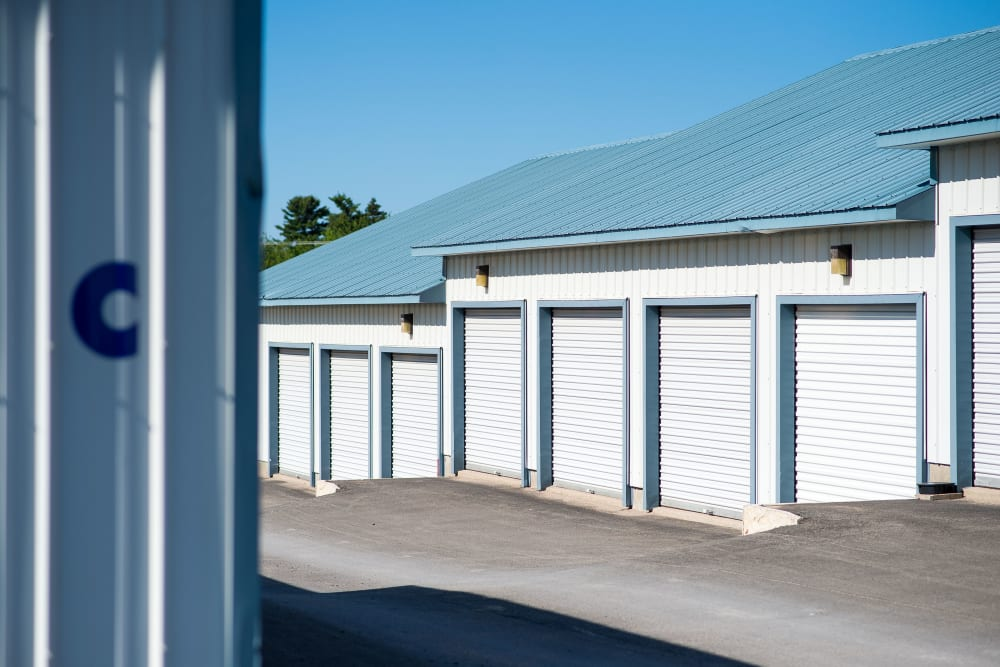 Loading doors on storage units at Apple Self Storage - Fredericton North in Fredericton, New Brunswick